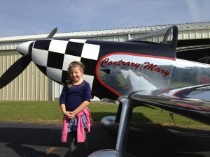 Mary and her RV-8