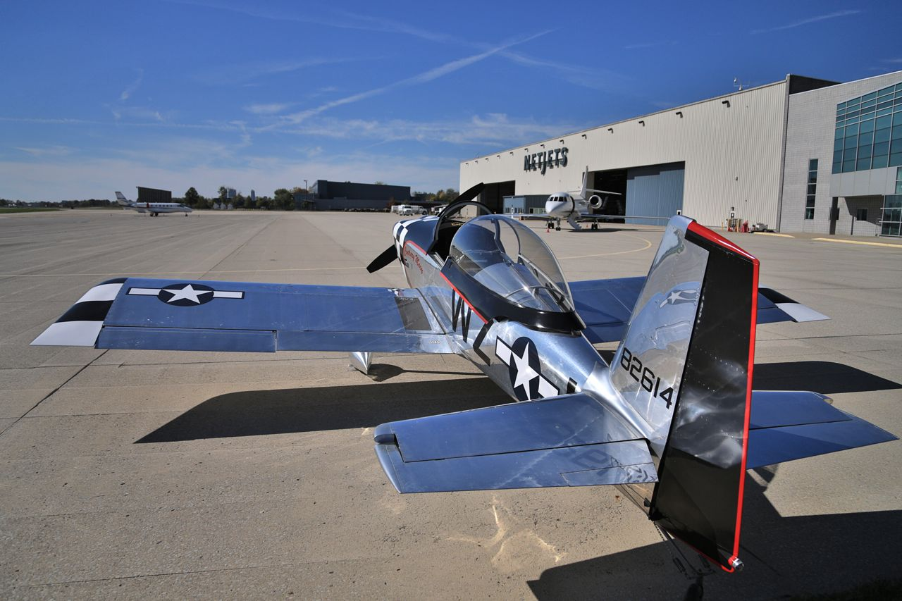 RV-8 and Falcon 2000