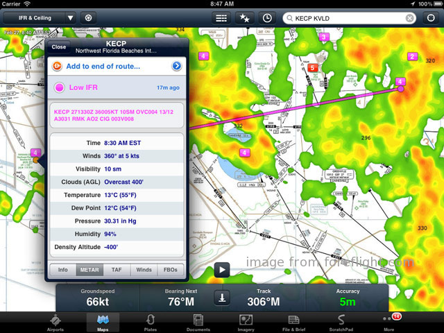 foreflight on the ipad