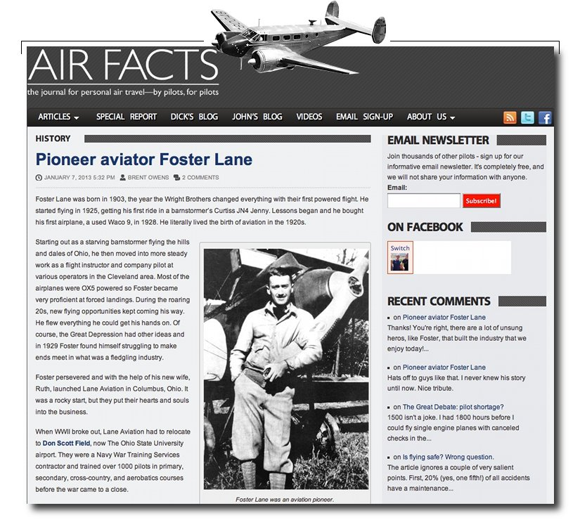 Foster Lane Air Facts Journal