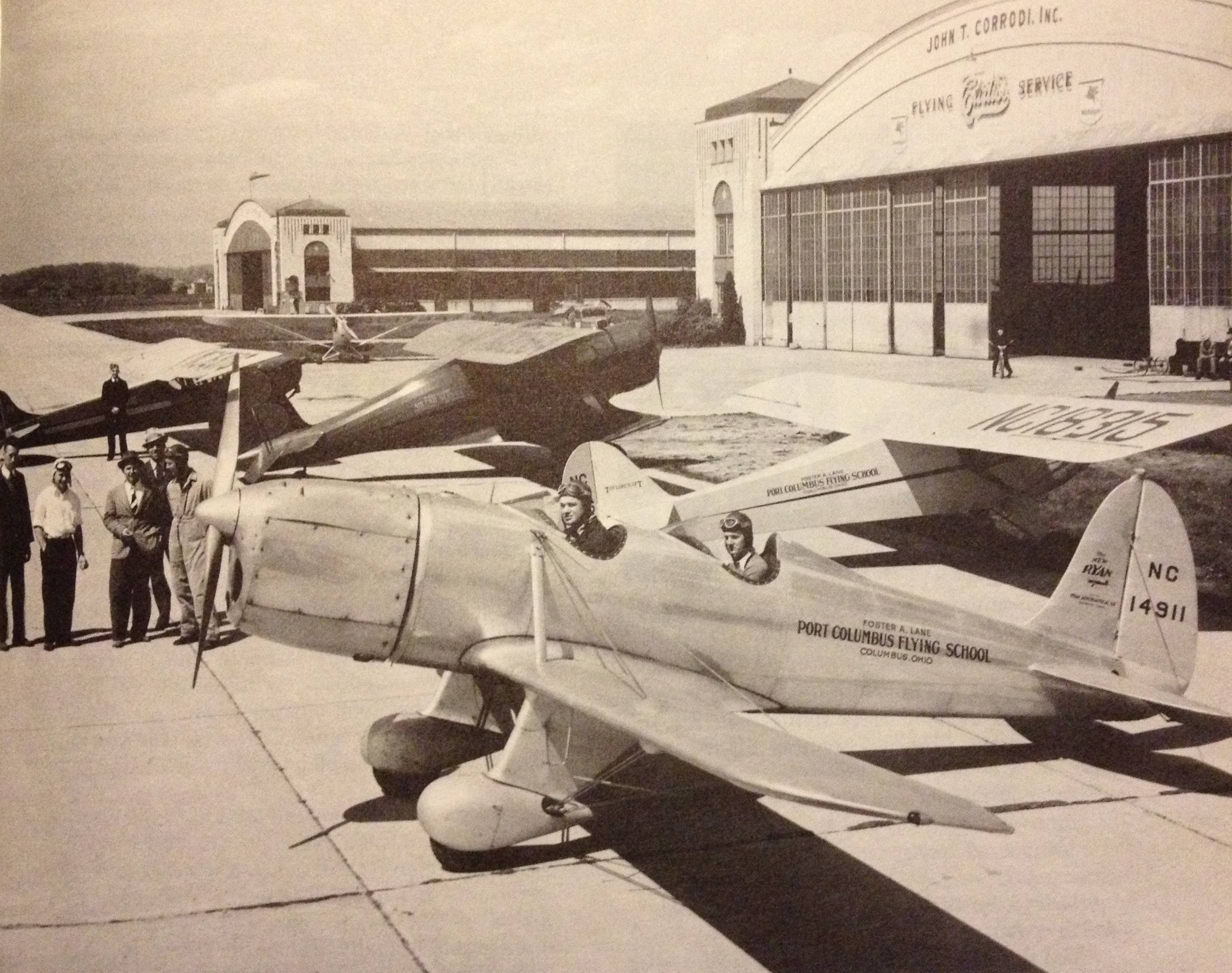 Lane Aviation aircraft pre-WWII Foster far left