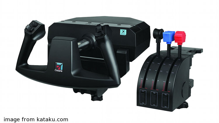 simulator yoke and throttle quadrant