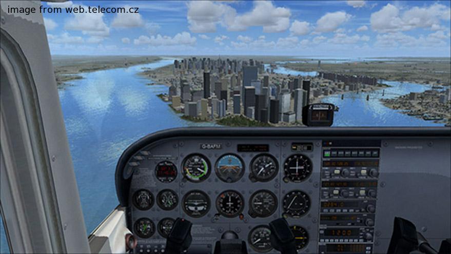 flight simulator visuals