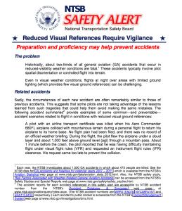 NTSB SA Reduced Visibility