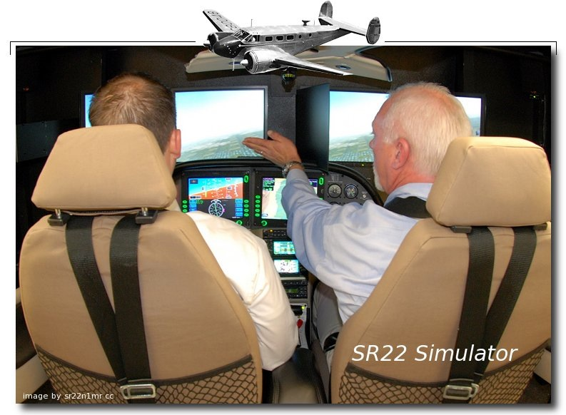 SR22 flight simulator