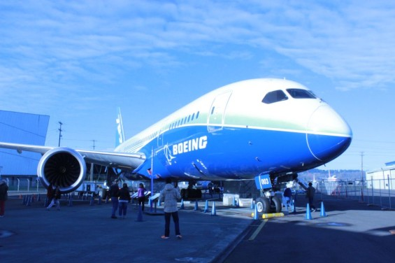 Boeing Dreamliner at the Boeing Plant